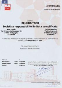 certificazione EN ISO 3834